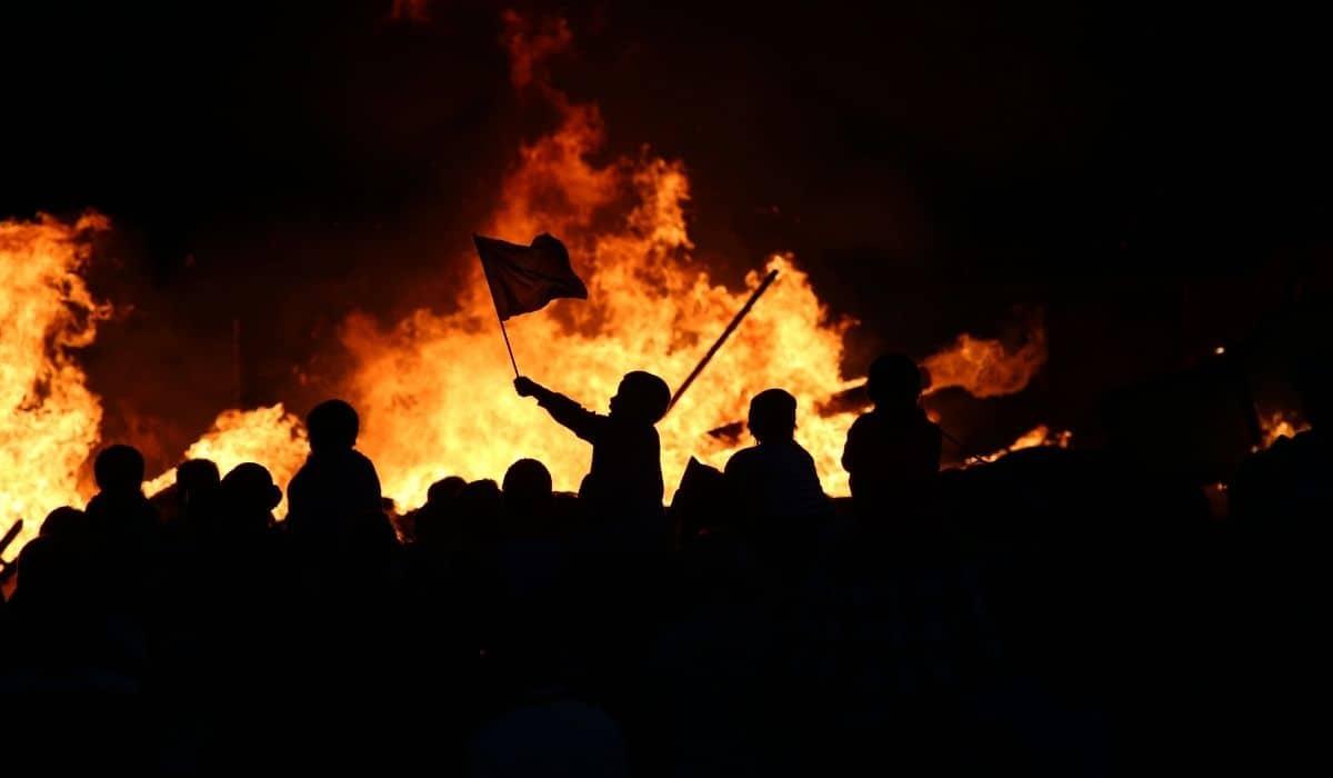manifestação fogo